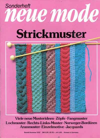 Neue Mode Strickmuster Nr. 5102: Neue Mode Strickmuster Nr ...
