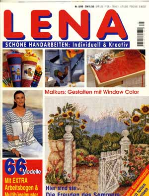 Lena 1999 August  Malkurs für Windowcolor