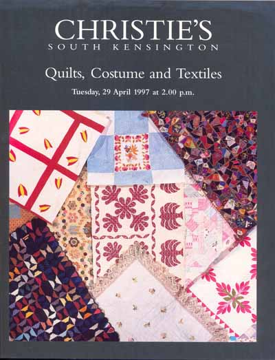 "Christies`s Catalog ""Quilts, Costume and Textiles"""