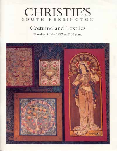 "Christies`s Catalog "" Costume and Textiles"""