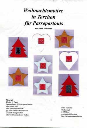 Knöpfe Weihnachtsmotive.Weihnachtsmotive In Torchon Für Passepartouts Von Petra Tschante