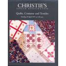 "Christies`s Ausstellungskatalog ""Quilts, Costume and Textiles"""