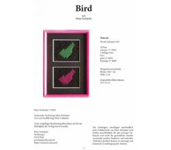 Klöppelbrief Bird von Petra Tschanter